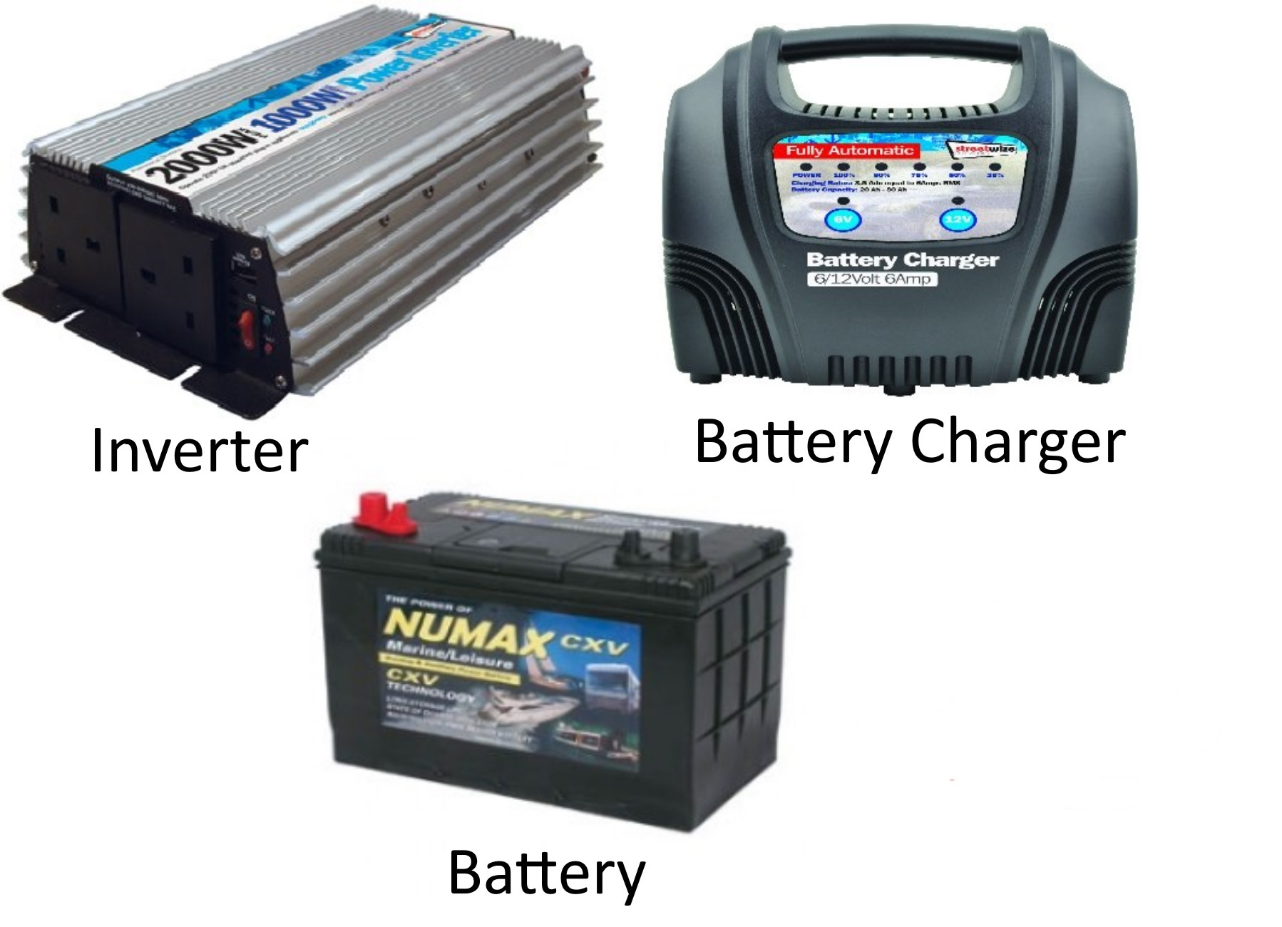 12v Mobile Pack Inverter, Charger and Battery - £306 00 : Snowy Cones