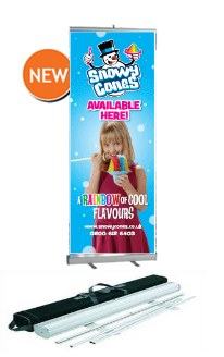 2.1m high x 800mm wide Roll Up banner